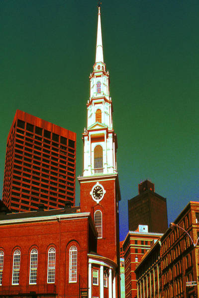Painting - Boston Pop Art - Red Green White by Peter Potter