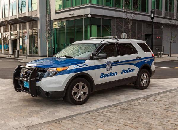 Photograph - Boston Police Car by Brian MacLean