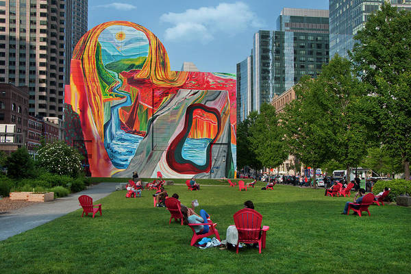 Photograph - Boston Public Art - Rose Fitzgerald Kennedy Greenway by Joann Vitali