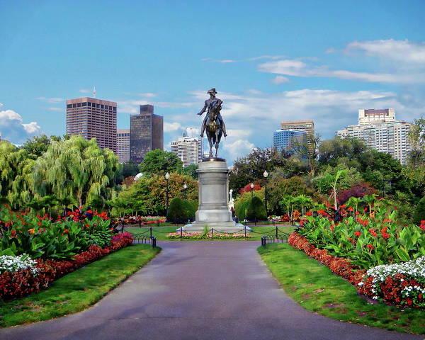 Photograph - Boston Public Garden by Anthony Dezenzio