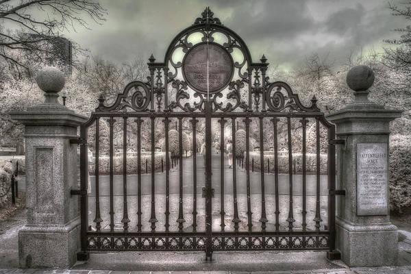 Photograph - Boston Public Garden - Black And White by Joann Vitali