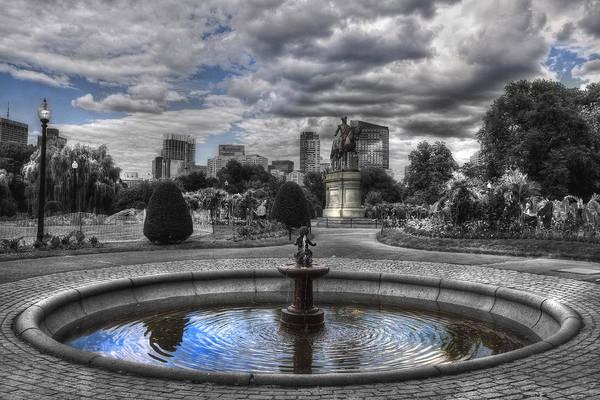Photograph - Boston Public Garden Fountain by Joann Vitali
