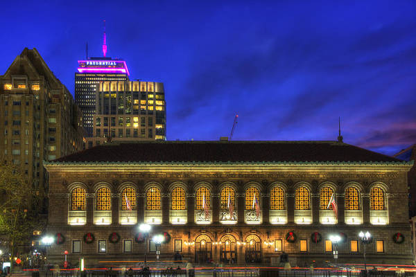 Wall Art - Photograph - Boston Public Library At Night - Copley Square by Joann Vitali