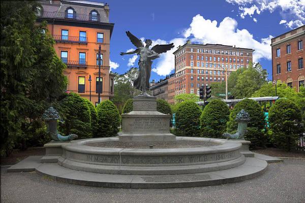 Photograph - Boston Public Gardens Park Y4 by Carlos Diaz