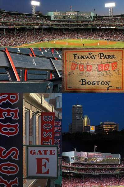 Photograph - Boston Red Sox And Fenway Park Collage  by Juergen Roth