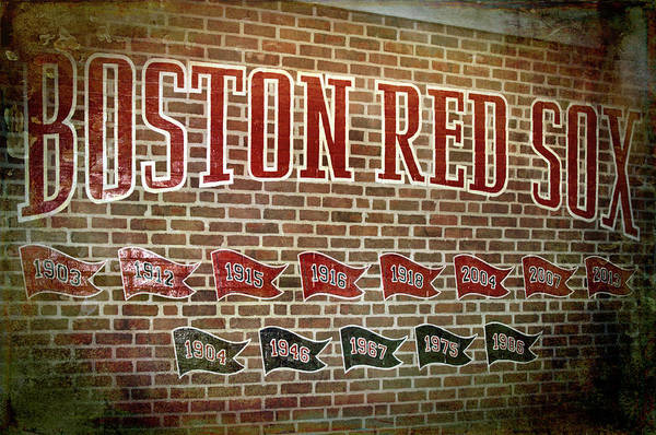 Photograph - Boston Red Sox Championship Flags by Joann Vitali