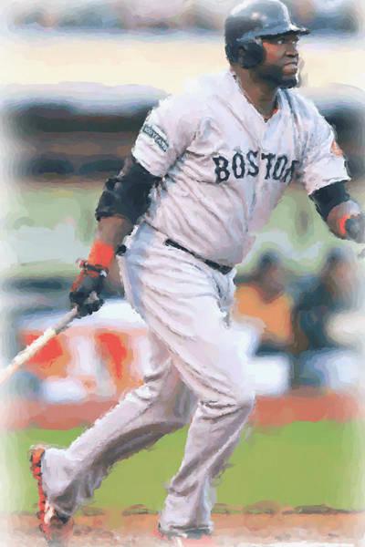 Wall Art - Digital Art - Boston Red Sox David Ortiz by Joe Hamilton