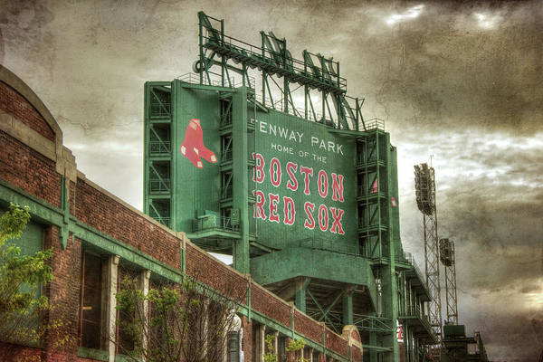 Photograph - Boston Red Sox Fenway Park Scoreboard by Joann Vitali