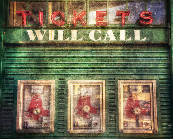Photograph - Boston Red Sox Fenway Park Ticket Booth by Joann Vitali