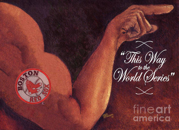 Memphis Grizzlies Painting - Boston Red Sox. This Way To The World Series by Jean-Marie Poisson