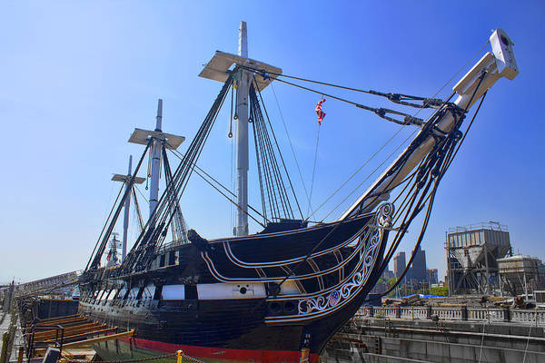 Photograph - U.s.s. Constitution - Boston Series 10 by Carlos Diaz
