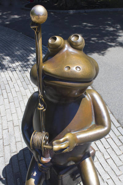 Photograph - Frog Fishing - Boston Series 19 by Carlos Diaz