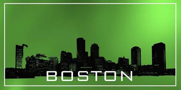 Digital Art - Boston Skylie In Green by Alberto RuiZ