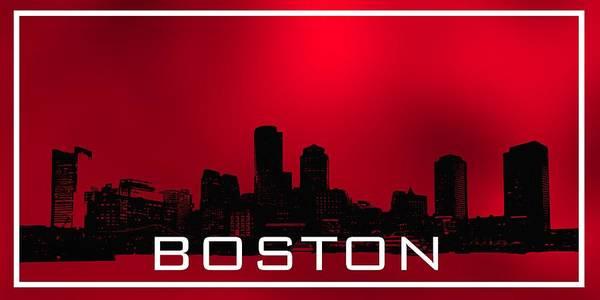 Digital Art - Boston Skylie In Red by Alberto RuiZ