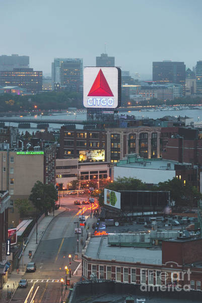 Wall Art - Photograph - Boston Skyline Aerial Photo With Citgo Sign by Paul Velgos