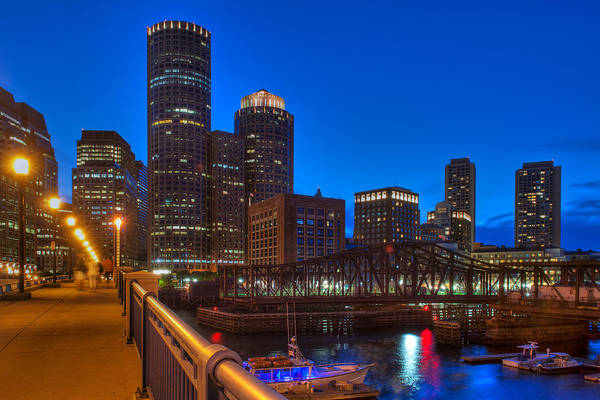 Photograph - Boston Skyline And The Evelyn Moakley Bridge by Joann Vitali