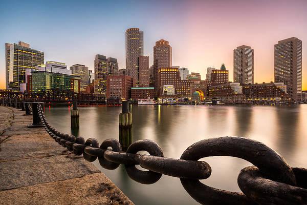 Photograph - Boston Skyline At Sunset by Mihai Andritoiu