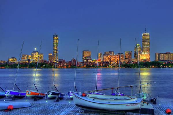 Photograph - Boston Skyline At The Mit Sailing Pavilion by Joann Vitali