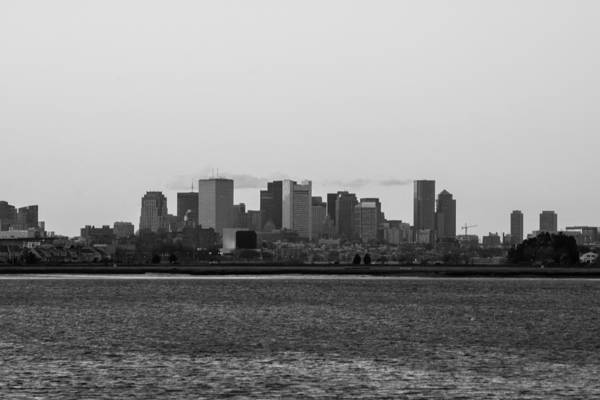 Photograph - Boston Skyline Black And White by Brian MacLean