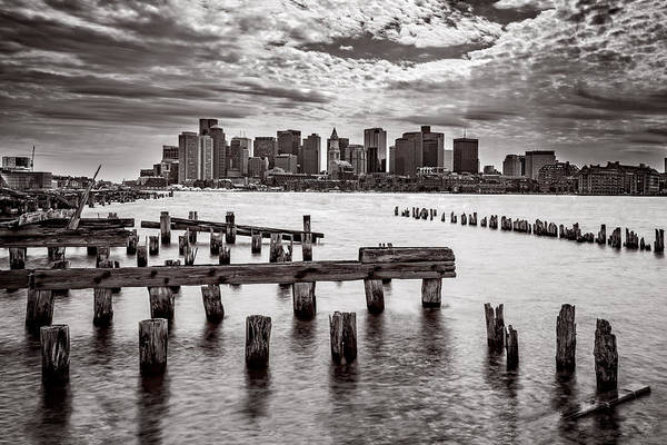 Photograph - Boston Skyline Bw by Chris Bordeleau
