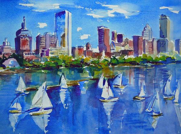 Massachusetts Painting - Boston Skyline by Diane Bell