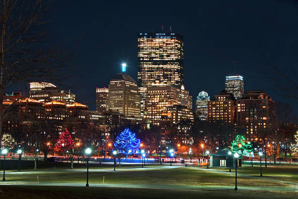 Photograph - Boston Skyline From Boston Common by Joann Vitali