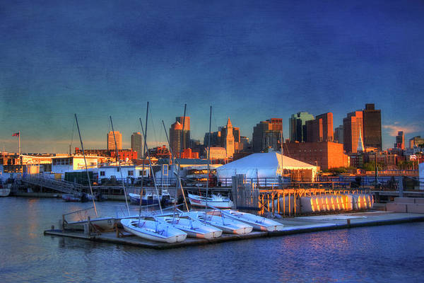 Photograph - Boston Skyline From Charlestown Navy Yard by Joann Vitali