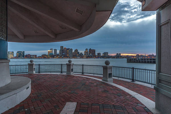 Boston Skyline From Piers Park  East Boston Ma Art Print