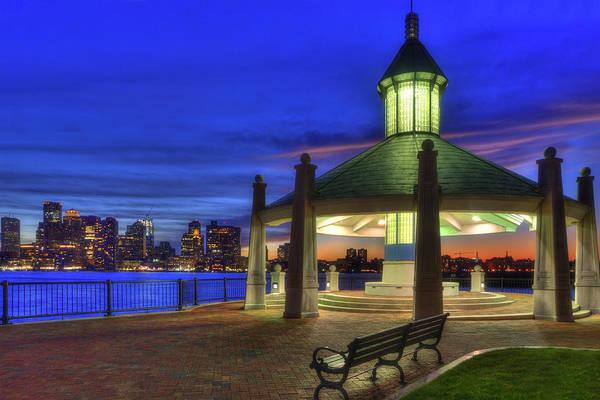 Photograph - Boston Skyline From Piers Park Gazebo by Joann Vitali