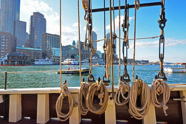 Photograph - Boston Skyline From The Boston Harbor by Toby McGuire