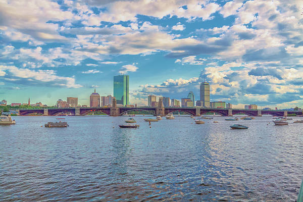 Photograph - Boston Skyline From The Charles River by Brian MacLean