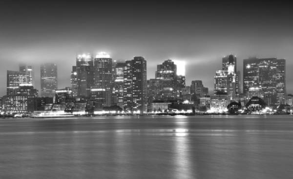 Wall Art - Photograph - Boston Skyline In Black And White by Brendan Reals