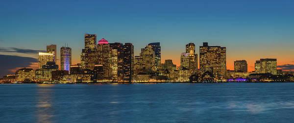 Wall Art - Photograph - Boston Skyline - Panorama by Michael Blanchette