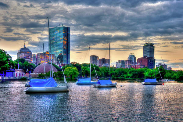 Photograph - Boston Skyline Sunset Over The Charles River 2 by Joann Vitali