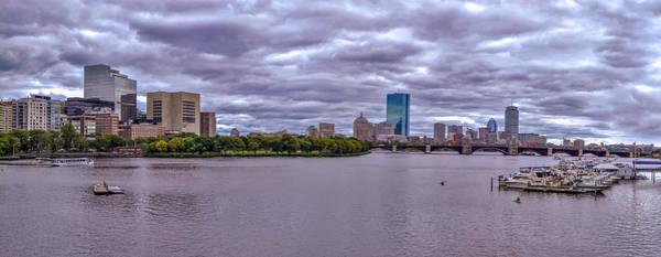 Wall Art - Pyrography - Boston Skyline V by Tim Casara