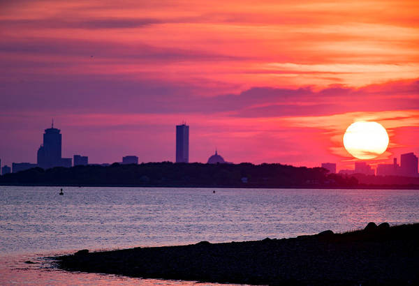 Boston Skyline Worlds End Art Print