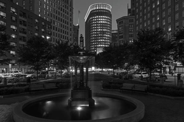 Photograph - Boston Statler Park In Black And White by Juergen Roth