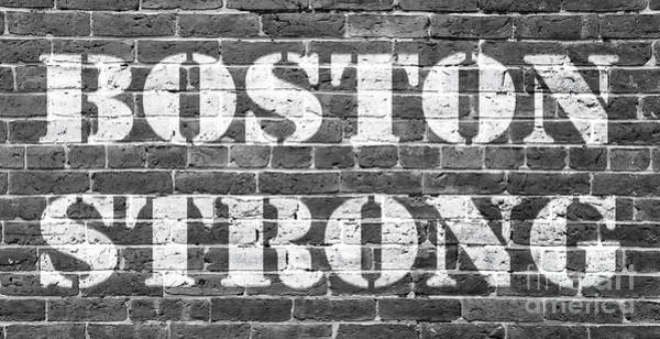 Boston Marathon Wall Art - Photograph - Boston Strong by Edward Fielding