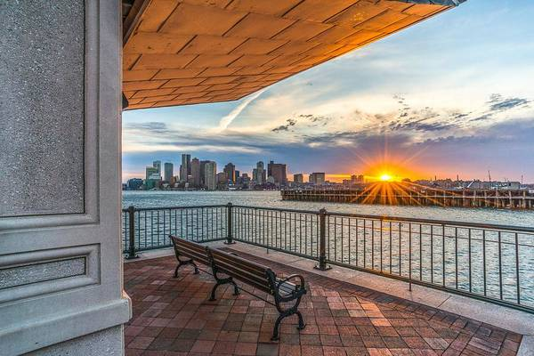 Photograph - Boston Sunset From Piers Park East Boston Ma by Bryan Xavier