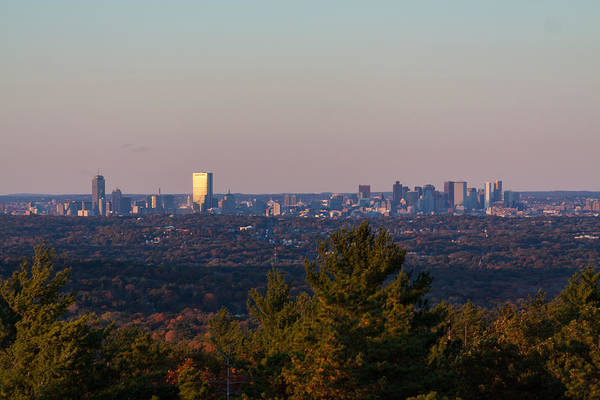 Photograph - Boston Sunset From The Blue Hills by Brian MacLean