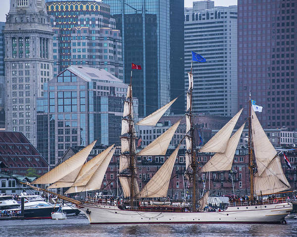 Wall Art - Photograph - Boston Tall Ship Parade 2017 Sailboat Boston Ma Watefront by Toby McGuire