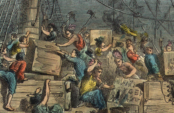 Wall Art - Drawing - Boston Tea Party by American School
