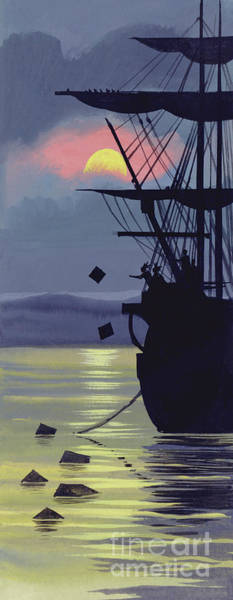 Wall Art - Painting -  Boston Tea Party by Ron Embleton
