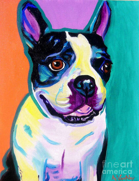Wall Art - Painting - Boston Terrier - Jack Boston by Alicia VanNoy Call
