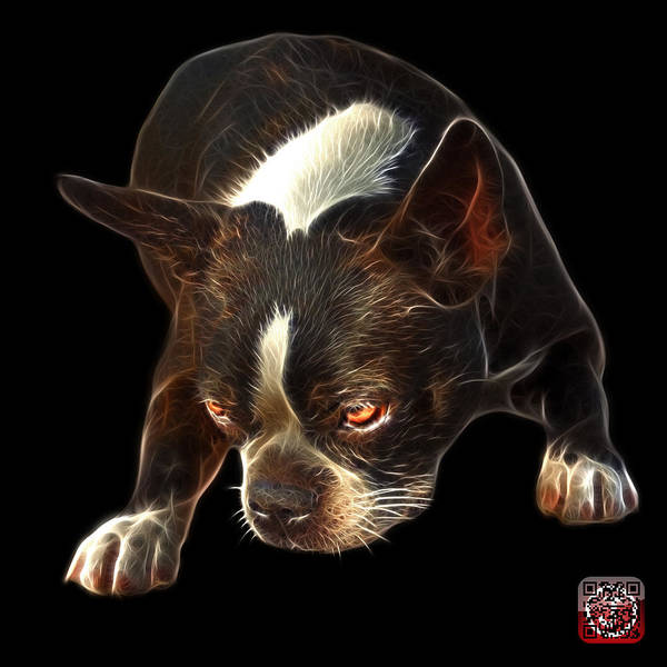 Mixed Media - Boston Terrier Art - 8384 - Bb by James Ahn