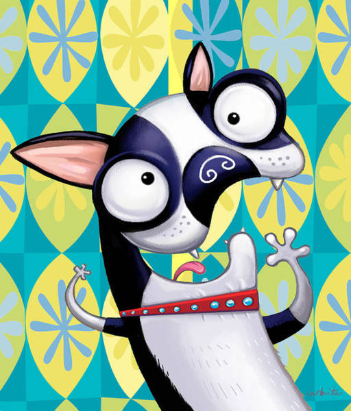 Terrier Digital Art - Boston Terrier by Brian White