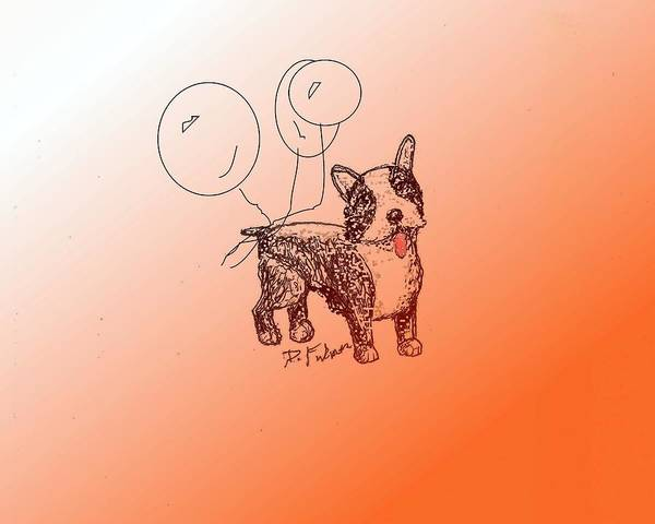 Drawing - Boston Terrier by Denise F Fulmer