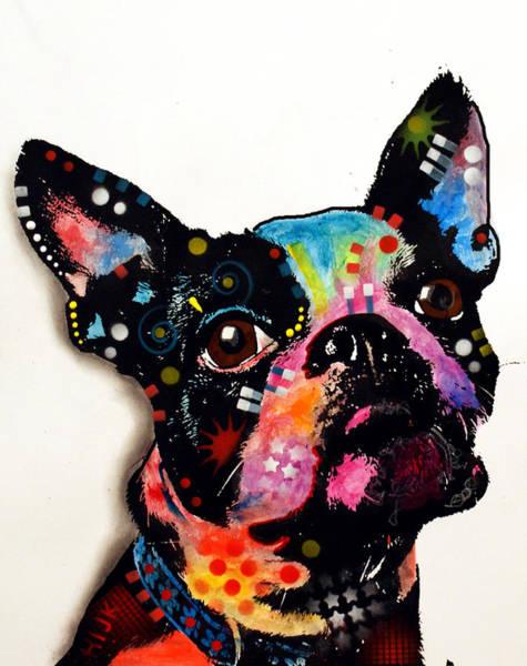 Terrier Painting - Boston Terrier II by Dean Russo Art