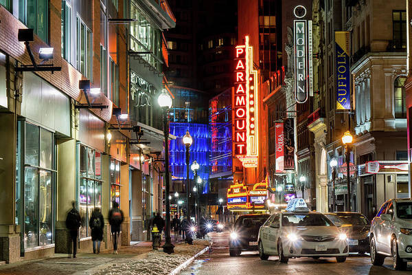 Photograph - Boston Theater District by Christopher Brown
