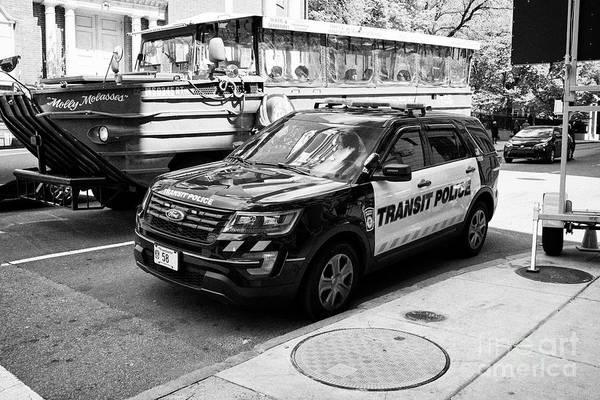 Wall Art - Photograph - boston transit police ford interceptor suv patrol vehicle Boston USA by Joe Fox